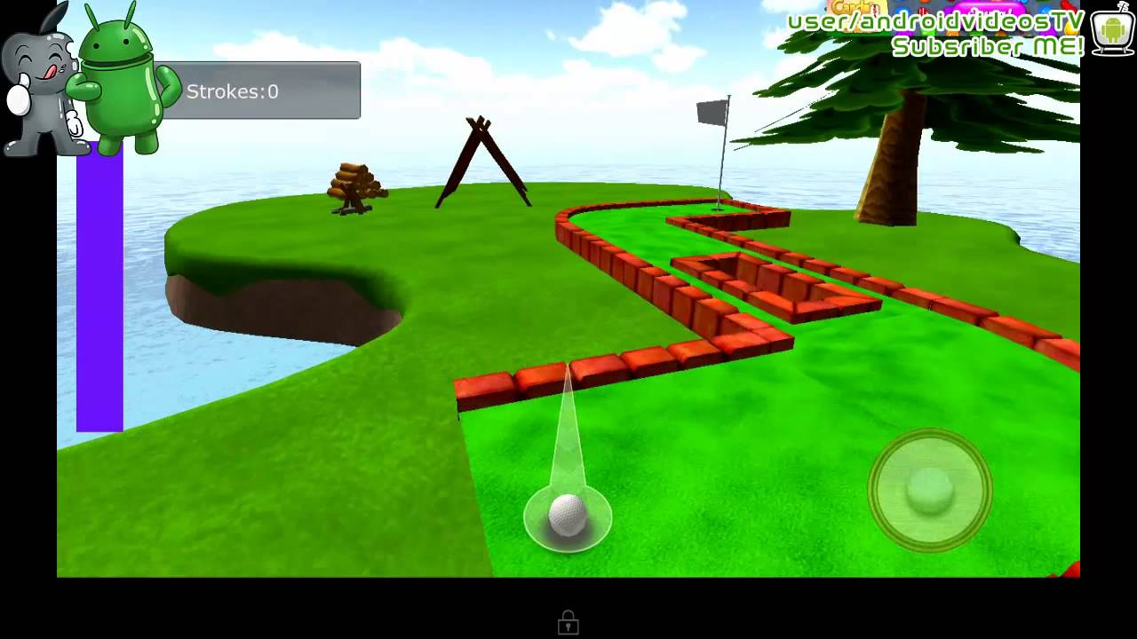 Android Cartoon Mini Golf Game 3d Youtube