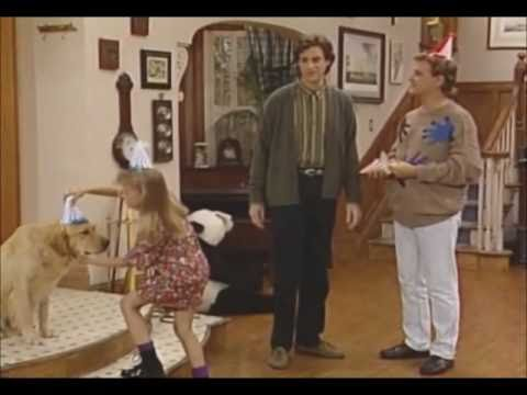 Full House Funny Clip - Comet blows out his birthday candles