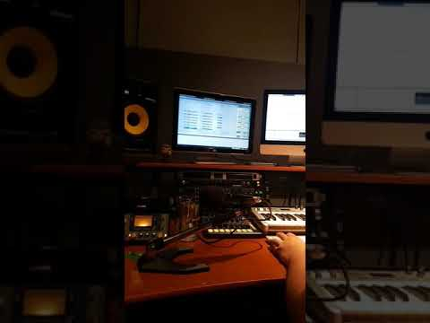 In Studio Working on a new song