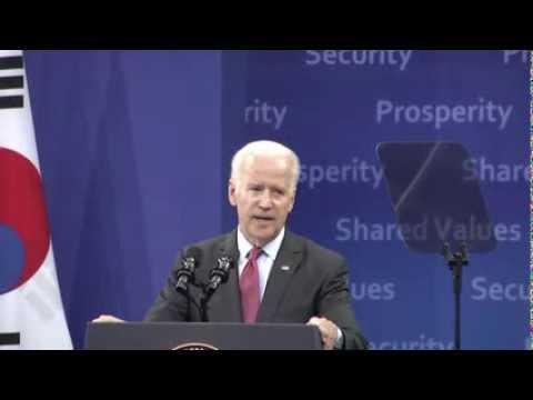 Vice President Biden Speech at Yonsei University in Seoul