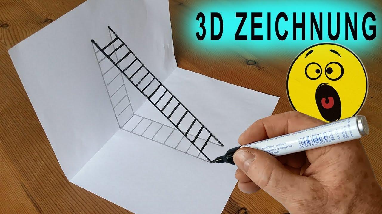 3d Leiter Zeichnung Illusion Anleitung Diy Tutorial Easy