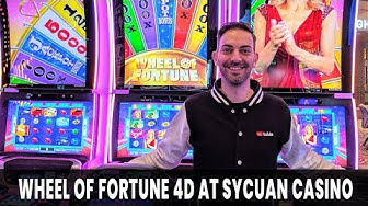 🎰Wheel Of Fortune 4⃣D Slot Machine 💰 with Brian Christopher at Sycuan Casino #AD