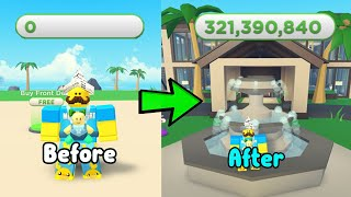 Went From Poor Noob To Richest Player In Tropical Resort Tycoon Roblox!