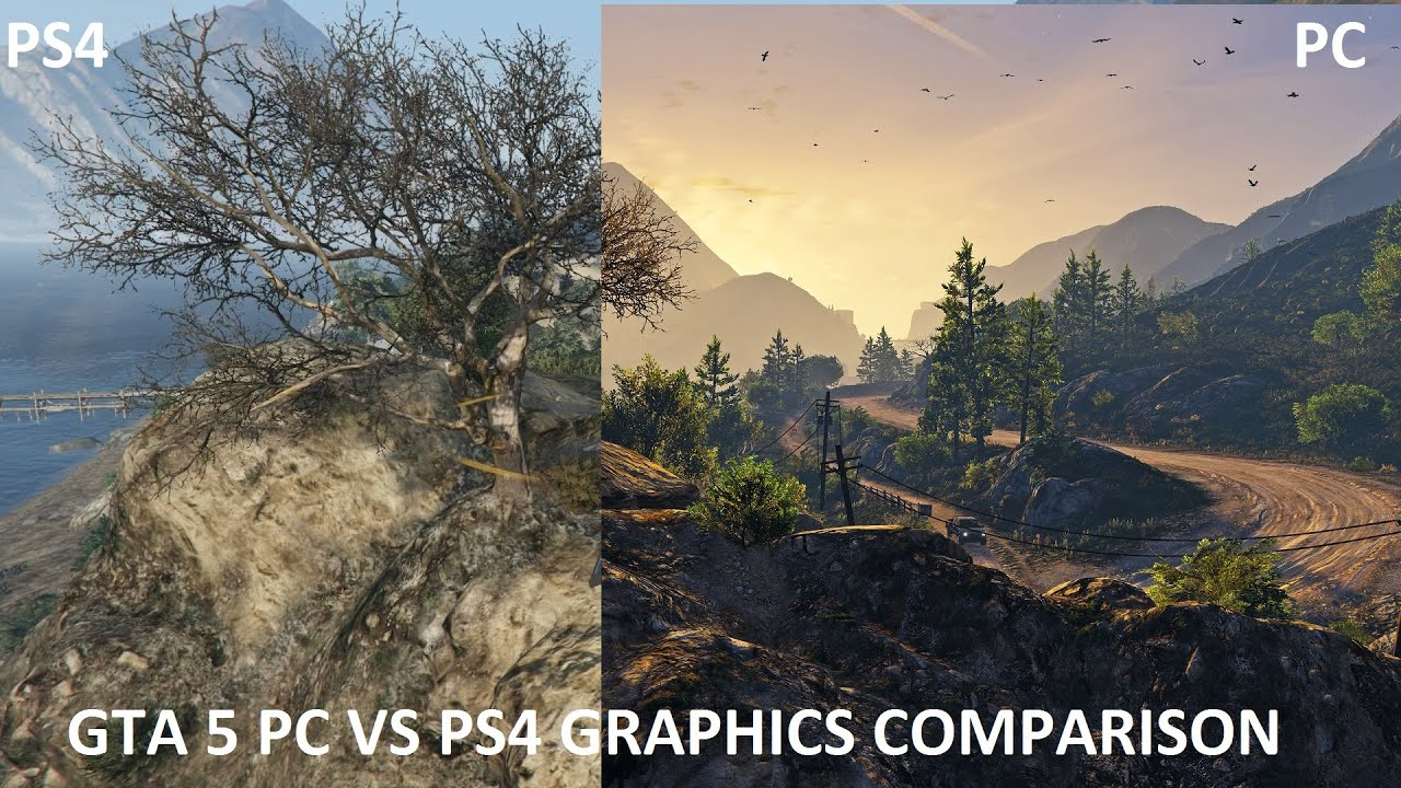 gta 5 pc vs ps4 comparison hd