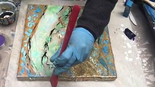 Wax on Wednesdays Shellac Burn With Metallic Pearl Ex Pigments !