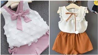 Stylish stylish designer baby girl dress designs// so cute baby little girl dress