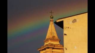 Meteo Livorno : arcobaleno sopra la Venezia