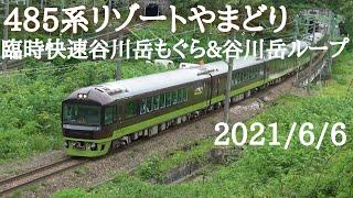 上越線 485系リゾートやまどり臨時快速谷川岳もぐら&谷川岳ループ号通過集 /Japanese Train 485Series RESORT YAMADORI