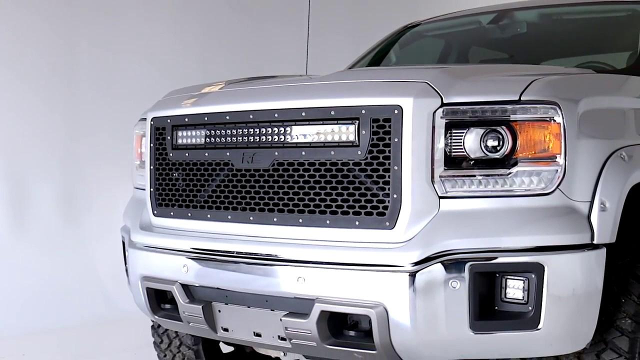 Gmc Sierra Accessories 2017 >> 2014 2015 GMC Sierra 1500 LED Fog Light Kit by Rough Country - YouTube