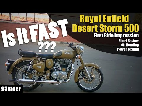 Royal Enfield | Classic | Desert Storm 500 | First Ride Impression and Short Review
