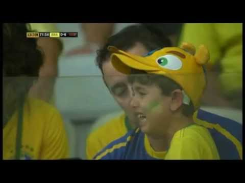 Brazilian Fans Crying after Semi Final Thrash by Germans_Total compilation