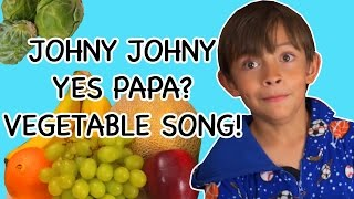 Johny Johny Yes Papa Vegetables Song | Songs about healthy eating and vegetables | Baby Songs