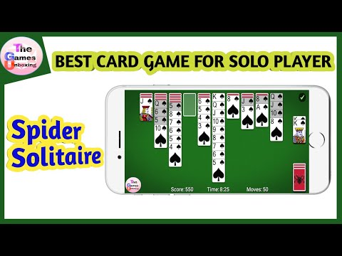 Best Card Game for solo | android Game | how to play spider solitaire in mobile @The Games Unboxing