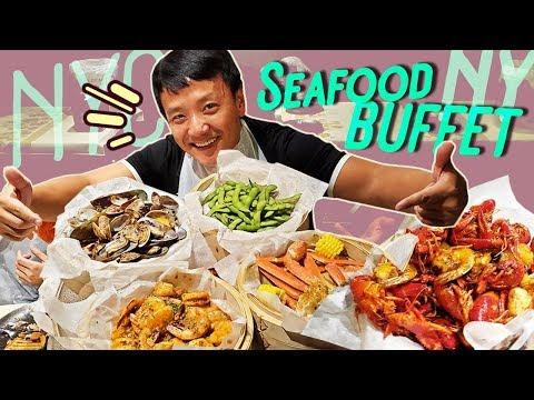 New York City SEAFOOD BUFFET & BEST Korea BBQ!