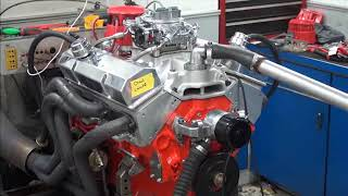 sbc 524hp 383 stroker engine dyno run for chad lantz by white performance and machine