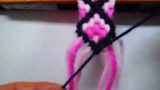 Repeat youtube video Kiwua How To Make Cross Friendship Bracelets.