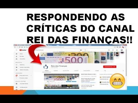 VÍDEO RESPOSTA CANAL REI DAS FINANÇAS!