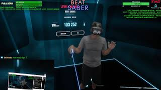 Beat Saber VR! Jedi Falibu Sword Saber Training N Chill | Day 7