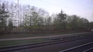 Вид из окна поезда Москва Минск
