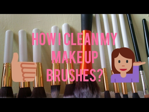 HOW I  CLEAN MY MAKE UP BRUSHES?? |ViaSantos