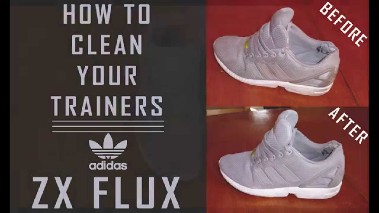 How To Clean Dirty Trainers / Sneakers / Shoes Easy Tutorial - Adidas ZX  FLUX - YouTube