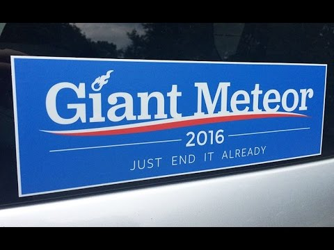 Record number of Americans support Giant Meteor over Clinton and Trump