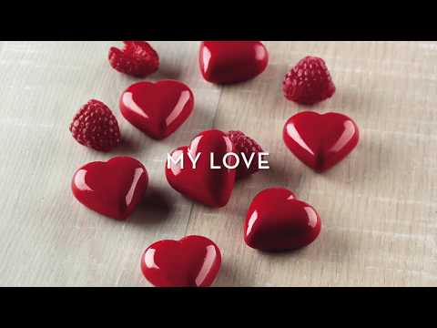 Heart Shaped 3D Chocolates With Silikomart Mould MY LOVE