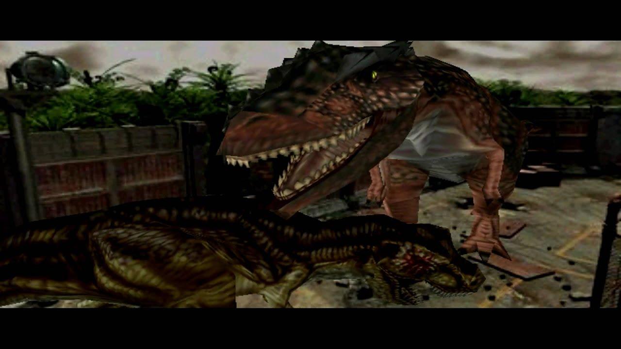 Dinosaur 3d Live Wallpaper Dino Crisis 2 T Rex Vs Giganotosaurus 1080p Youtube