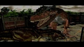 Dino Crisis 2 - T Rex Vs Giganotosaurus - 1080p
