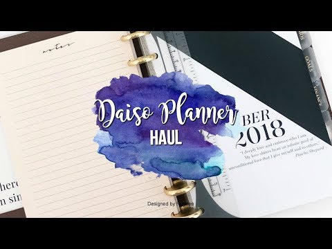 Daiso Planner Haul | Daiso Stationery Planner Supplies Haul | Japanese Stationery
