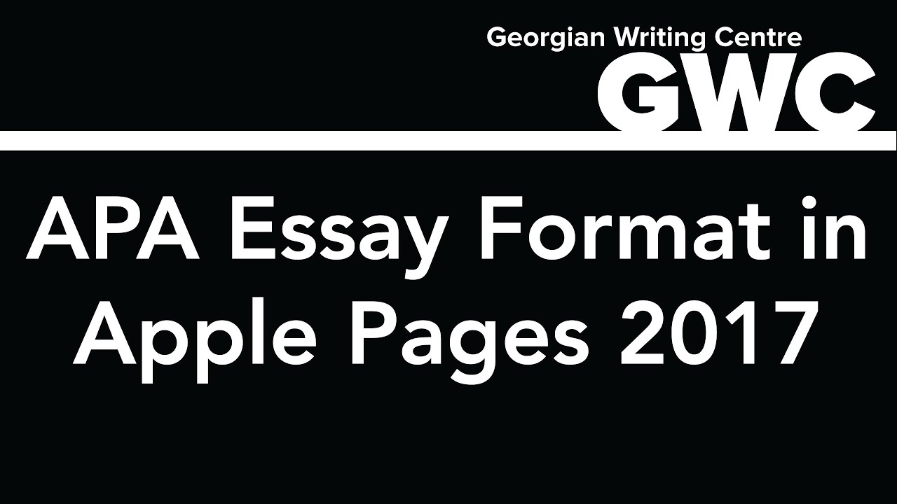 how to format an apa paper in apple pages 2017 youtube