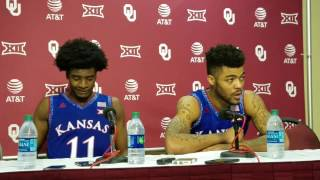 Slant TV: Frank Mason III and Josh Jackson talk about OU win