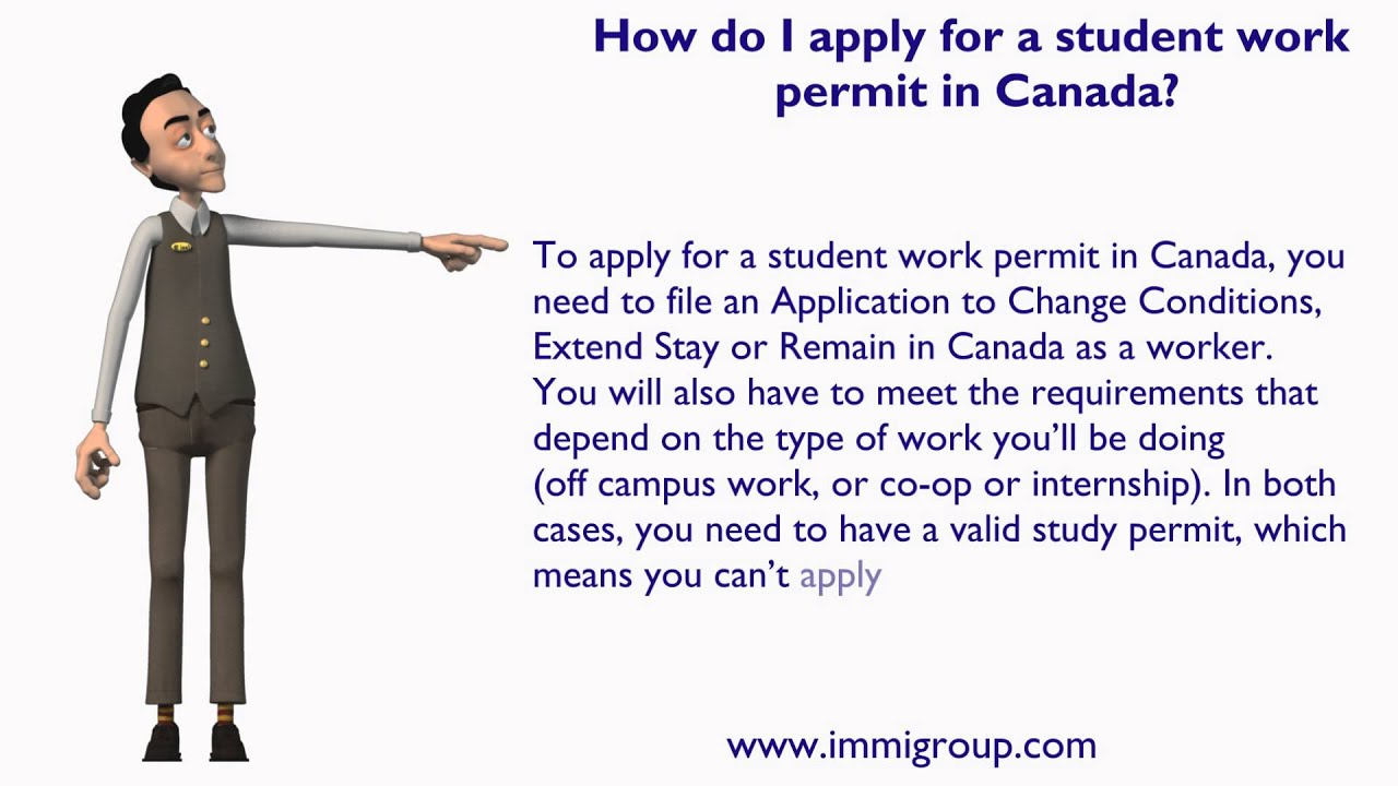 How do i apply for a student work permit in canada youtube falaconquin