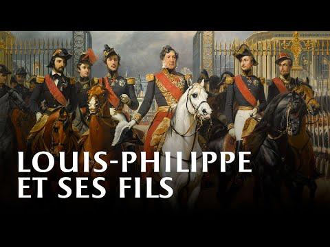 Vidéo Le roi Louis-Philippe et ses fils devant le château de Versailles