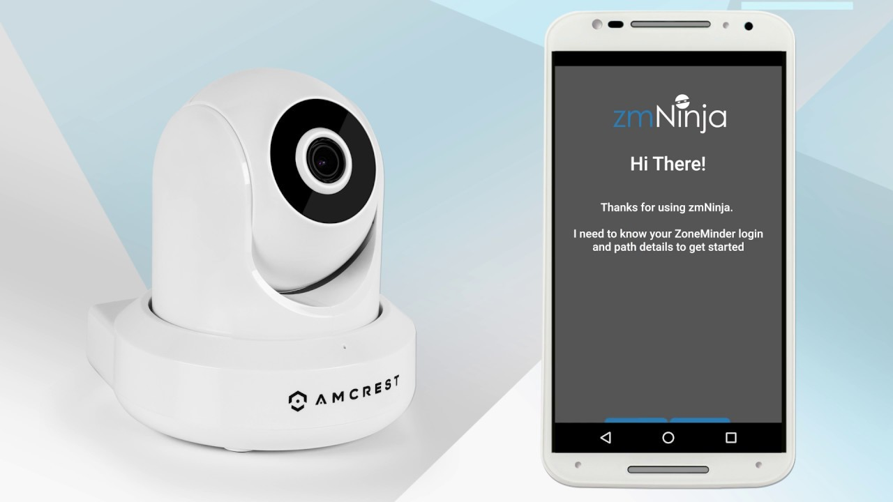 Connecting Amcrest WiFi IP Cameras to the Zoneminder software and zmNinja  App