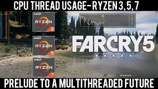 Far Cry 5 - CPU Utilization Analysis - Ryzen 3 / Ryzen 5 / Ryzen 7 / RX 580