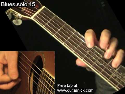 Blues Solo 15 - Flatpicking + TAB! Acoustic Guitar Lesson, Learn To Play