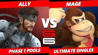 Genesis 6 SSBU -  Ally (Snake) VS  Mage (Donkey Kong) Smash Ultimate Pools