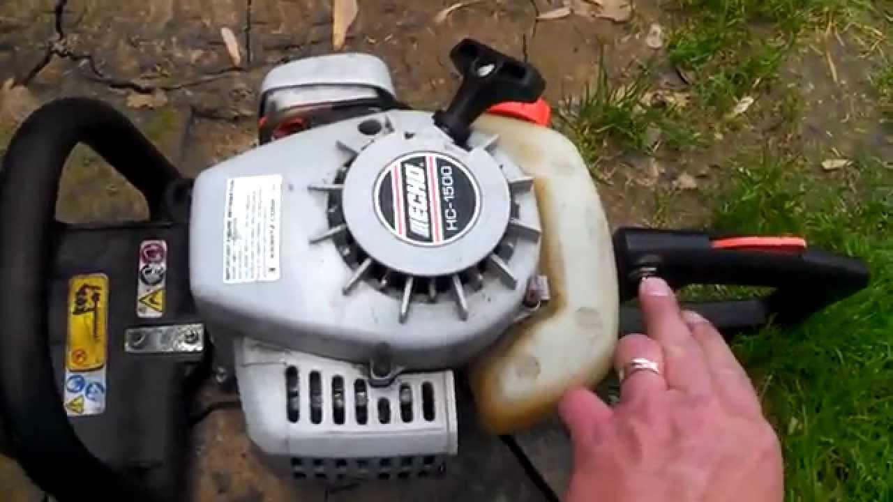 echo hc 1500 gas hedge trimmer  yard sale find