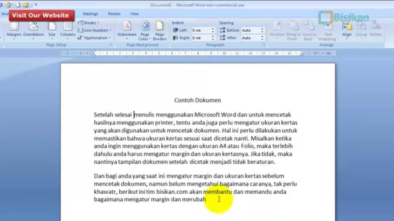 Cara Membuat Margin Dan Ukuran Kertas Pada Microsoft Word