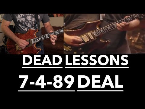 Grateful Dead Guitar Lesson - Deal Harmonic Analysis & Jerry Garcia Solos with Tab (7/4/89 Buffalo)