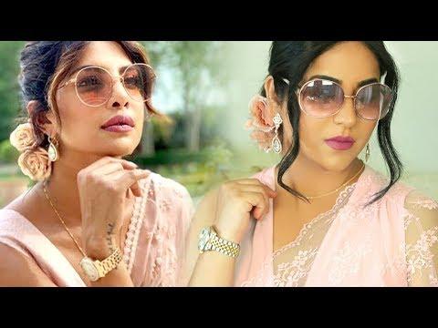 Priyanka Chopra Inspired Look (Hair & Makeup Tutorial)   Indian Wedding Guest thumbnail