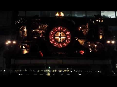 Miyazaki Clock (Giant Ghibli Clock, NI-Tele Really BIG Clock) in Tokyo