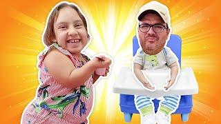 Maria Clara e papai criaram jogos engraçados um para o outro | забавные игры - MC Divertida