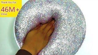 How To Make Slime : Fluffy Hologram glitter Slime thumbnail