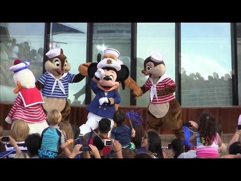 Re-imagined Disney Magic Sail Away party 2013 with Mickey Mouse
