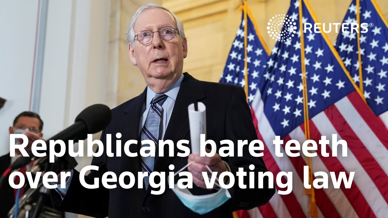 Mitch McConnell Lashes Out at Corporations Criticizing Voting ...