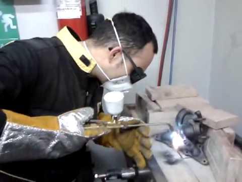 Saldatura Ghisa Collettore Scarico - Welding cast iron turbo exhaust manifold