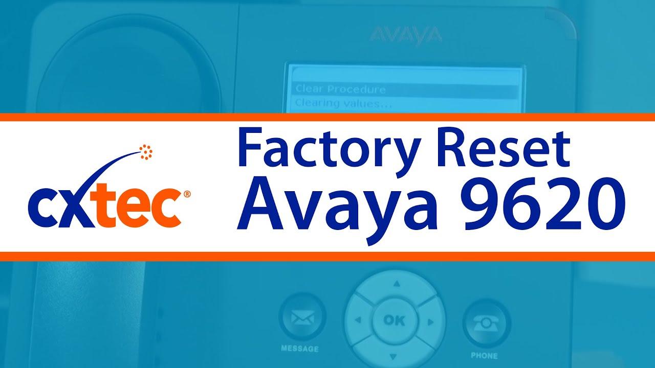 how to factory reset an avaya 9620 ip phone cxtec tec tips youtube rh youtube com avaya phone 9620l manual Avaya one-X Browser