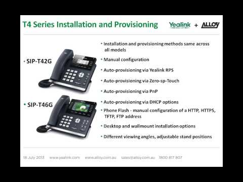 New Generation Business SIP Handsets - T4 Series Product Launch.